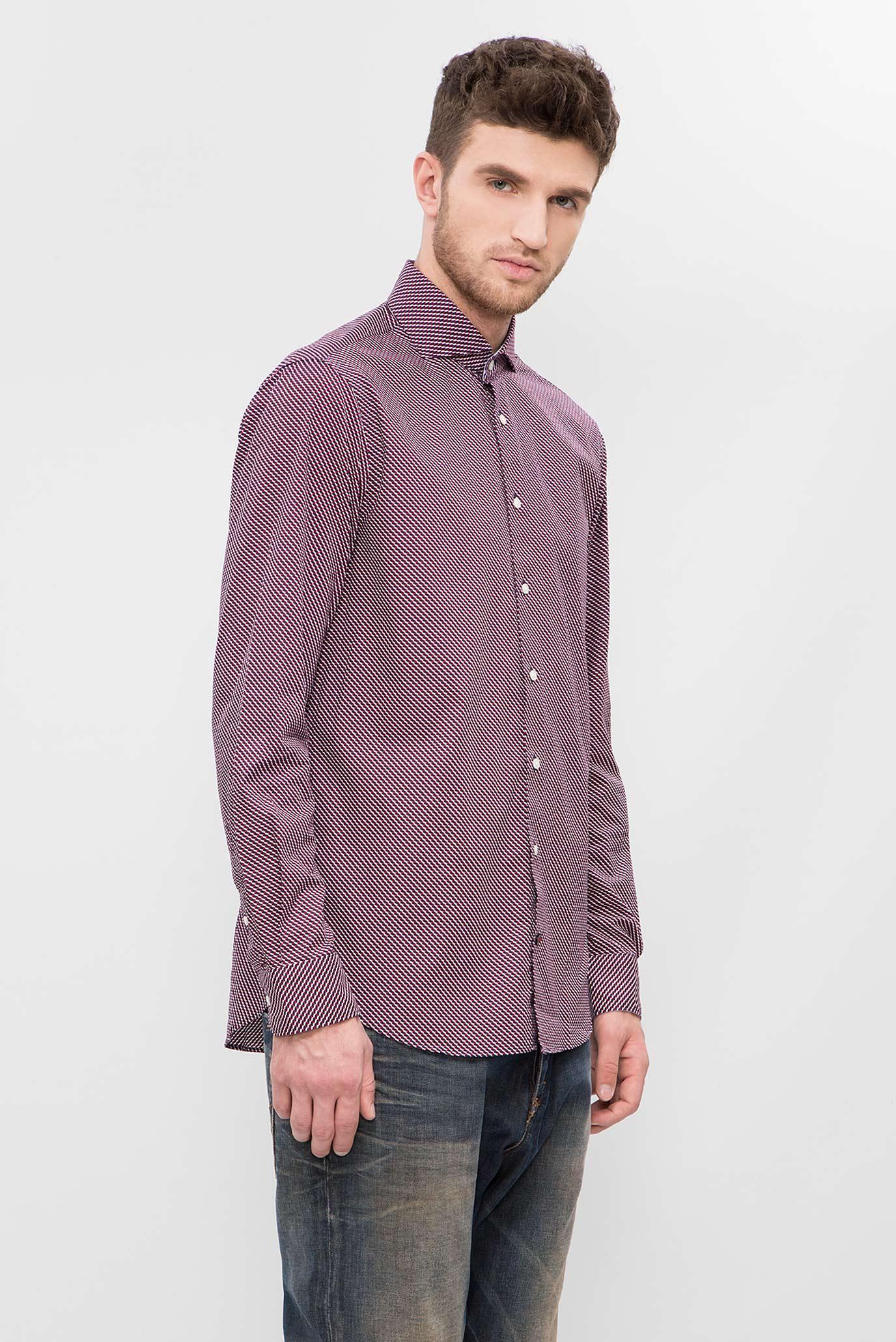 05802191133 Купить Мужская красная рубашка с узором Tommy Hilfiger Tommy Hilfiger  TT87893049 – Киев