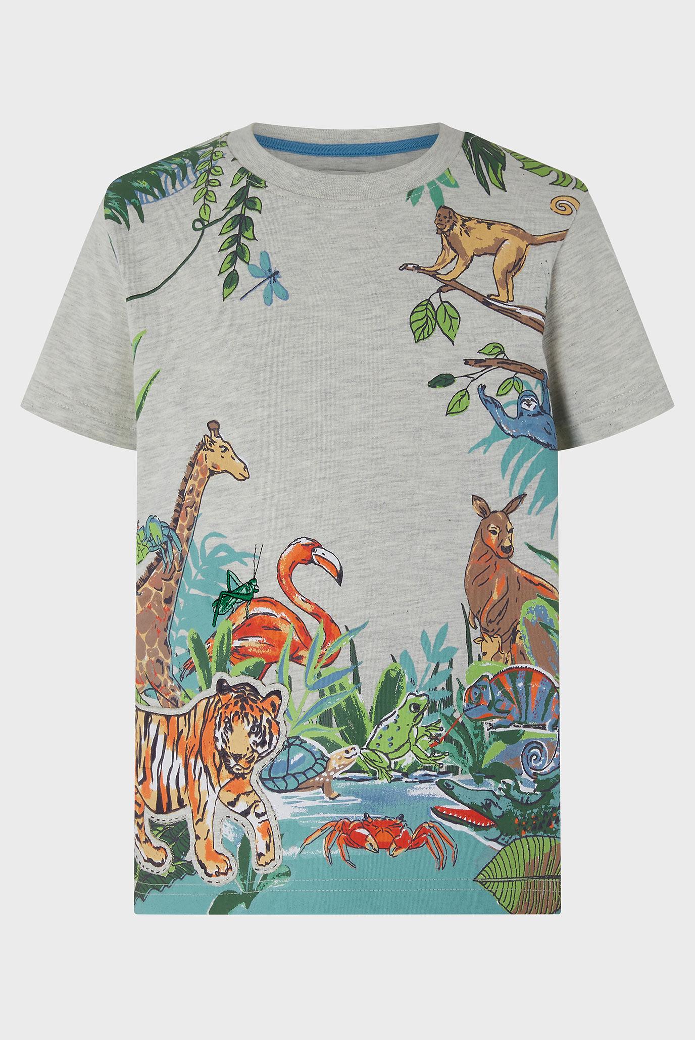 Купить Детская бежевая футболка Jayden Jungle Tee Monsoon Children Monsoon Children 616689 – Киев, Украина. Цены в интернет магазине MD Fashion
