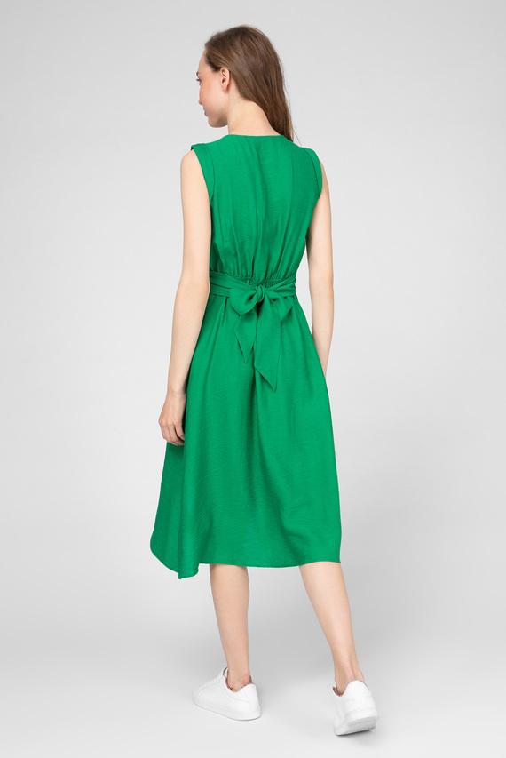 Женское зеленое платье