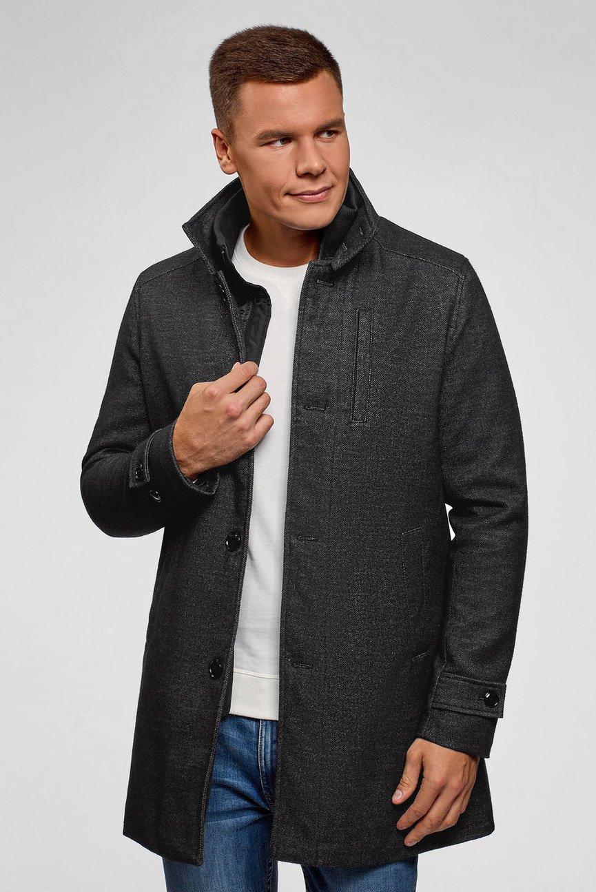 Мужское темно-серое пальто