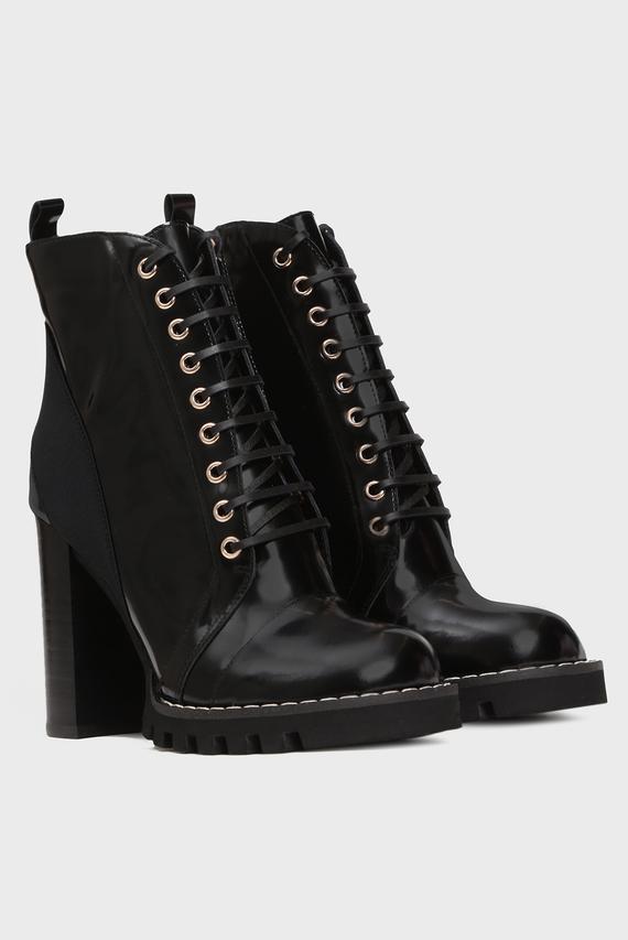 Женские черные кожаные ботильоны Califa