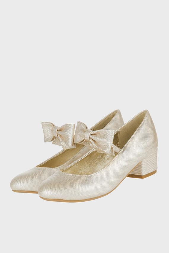 Детские золотистые туфли ALBA BOW STRAP CHARL
