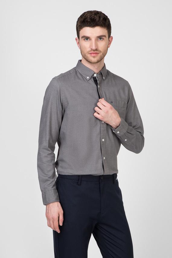 Мужская серая рубашка BUTTON DOWN BRUSHED TWILL