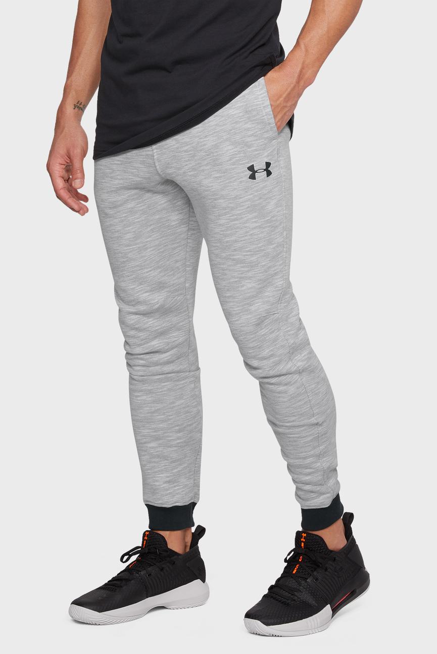 Мужские серые спортивные брюки UA Baseline Tapered