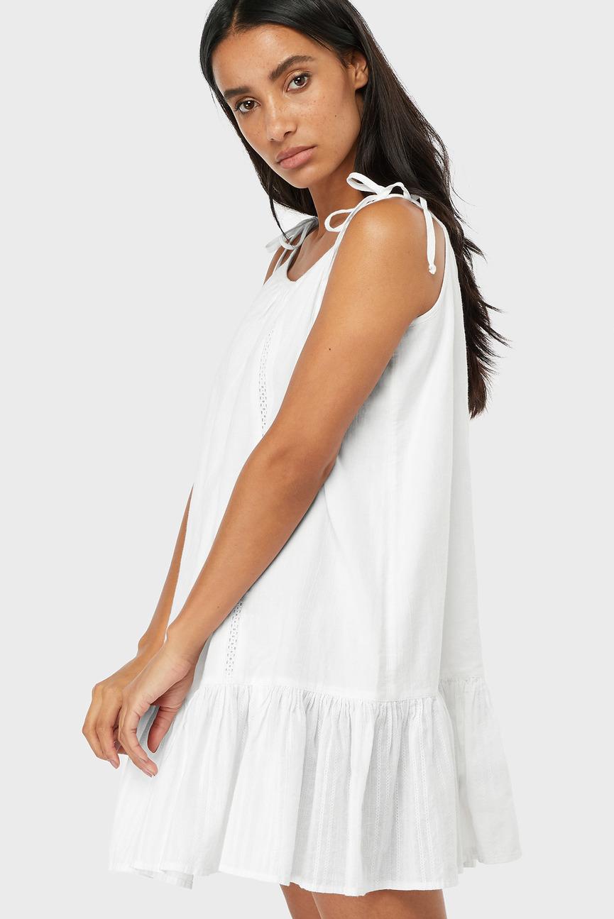 Женское белое платье LACE INSERT