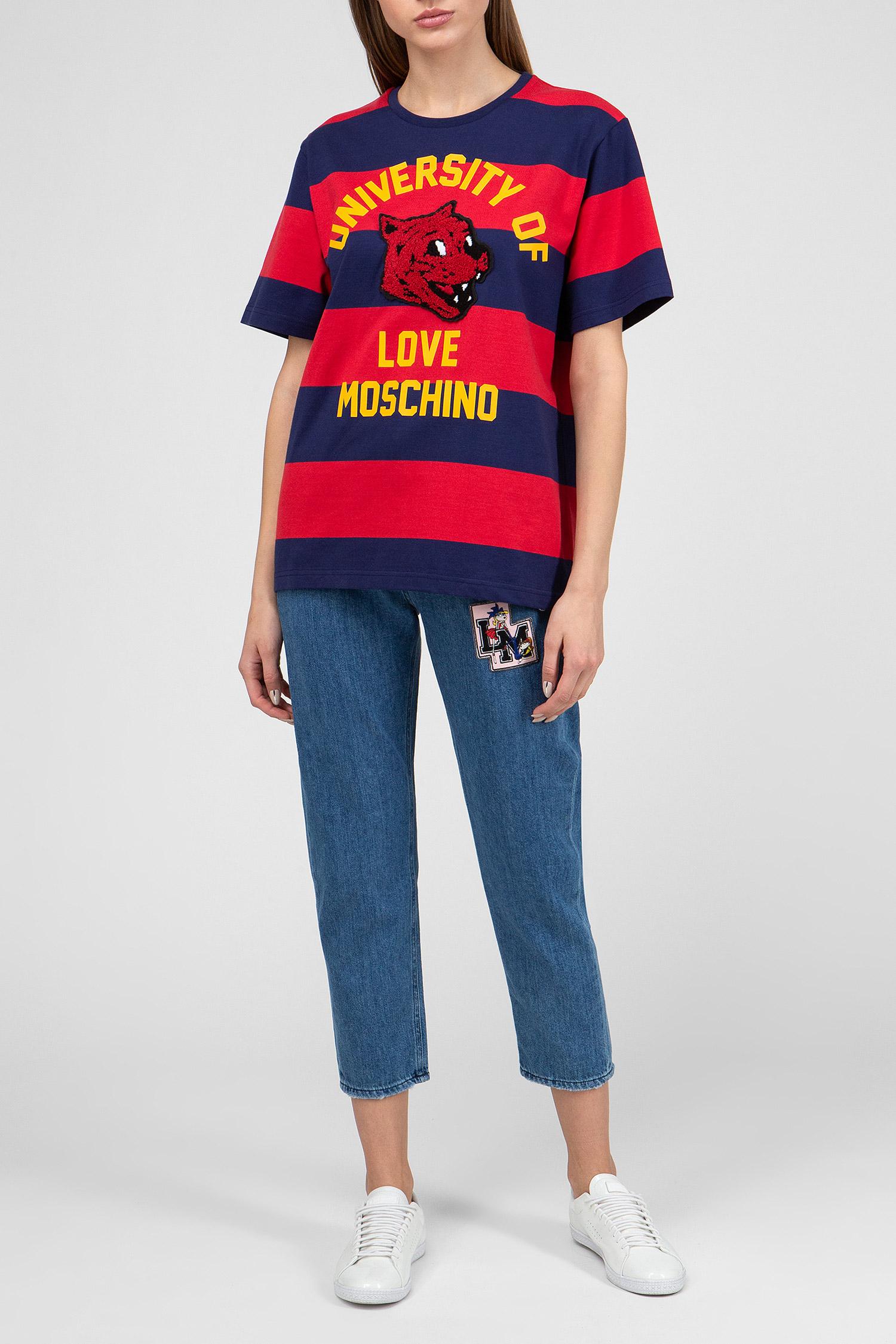Купить Женская футболка в полоску Love Moschino Love Moschino W4F8717M40052008 – Киев, Украина. Цены в интернет магазине MD Fashion
