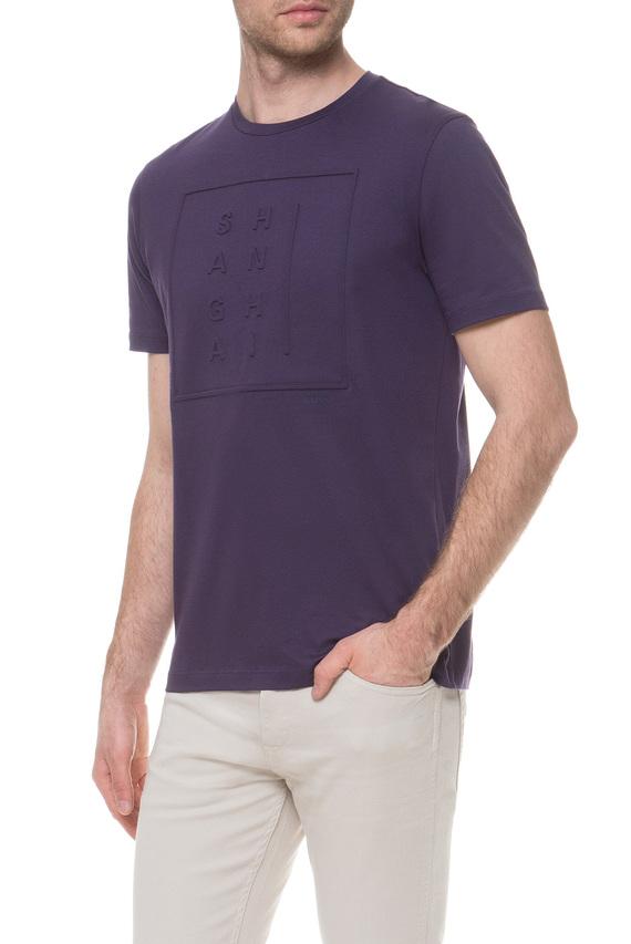 Мужская фиолетовая футболка