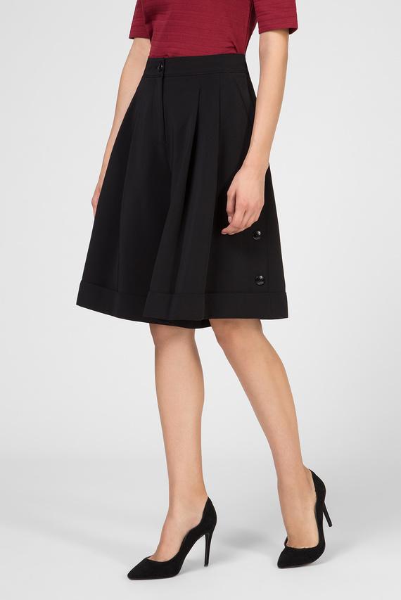 Женские черные шорты SIDE BUTTON DETAIL