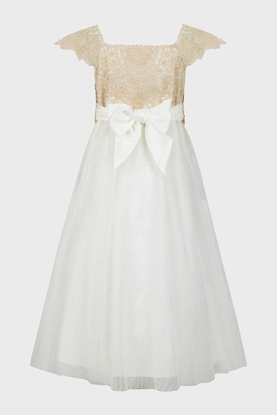 Детское белое платье Estella Sparkle