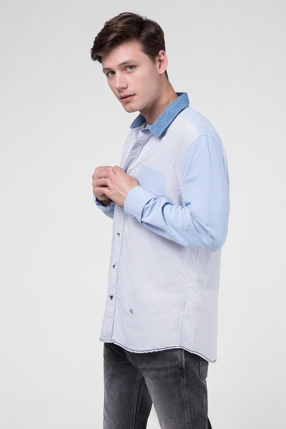Мужская голубая рубашка TRAVIS