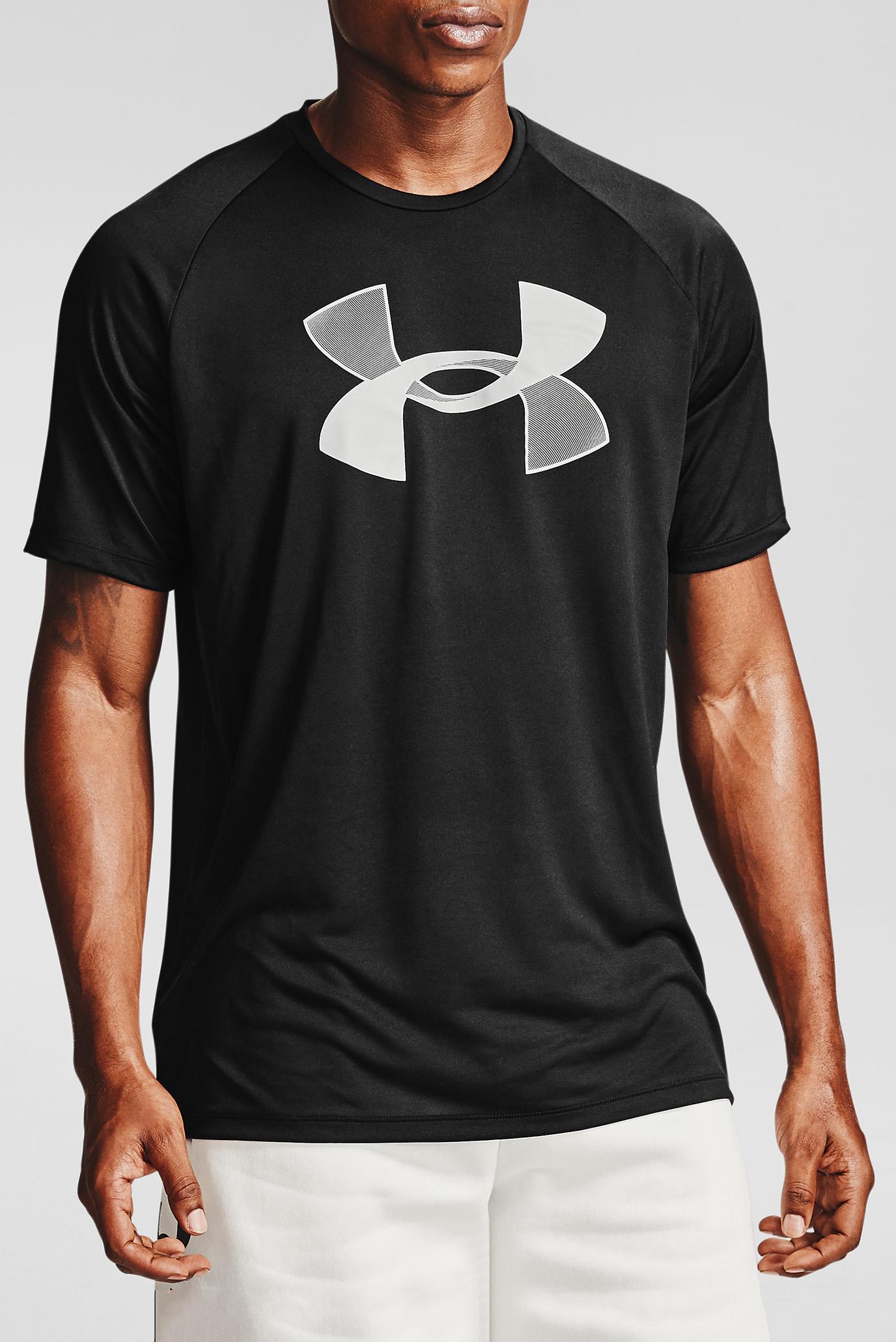 Чоловіча чорна футболка UA BIG LOGO TECH 1