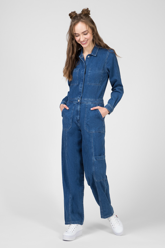 Женский синий джинсовый комбинезон TJW REGULAR