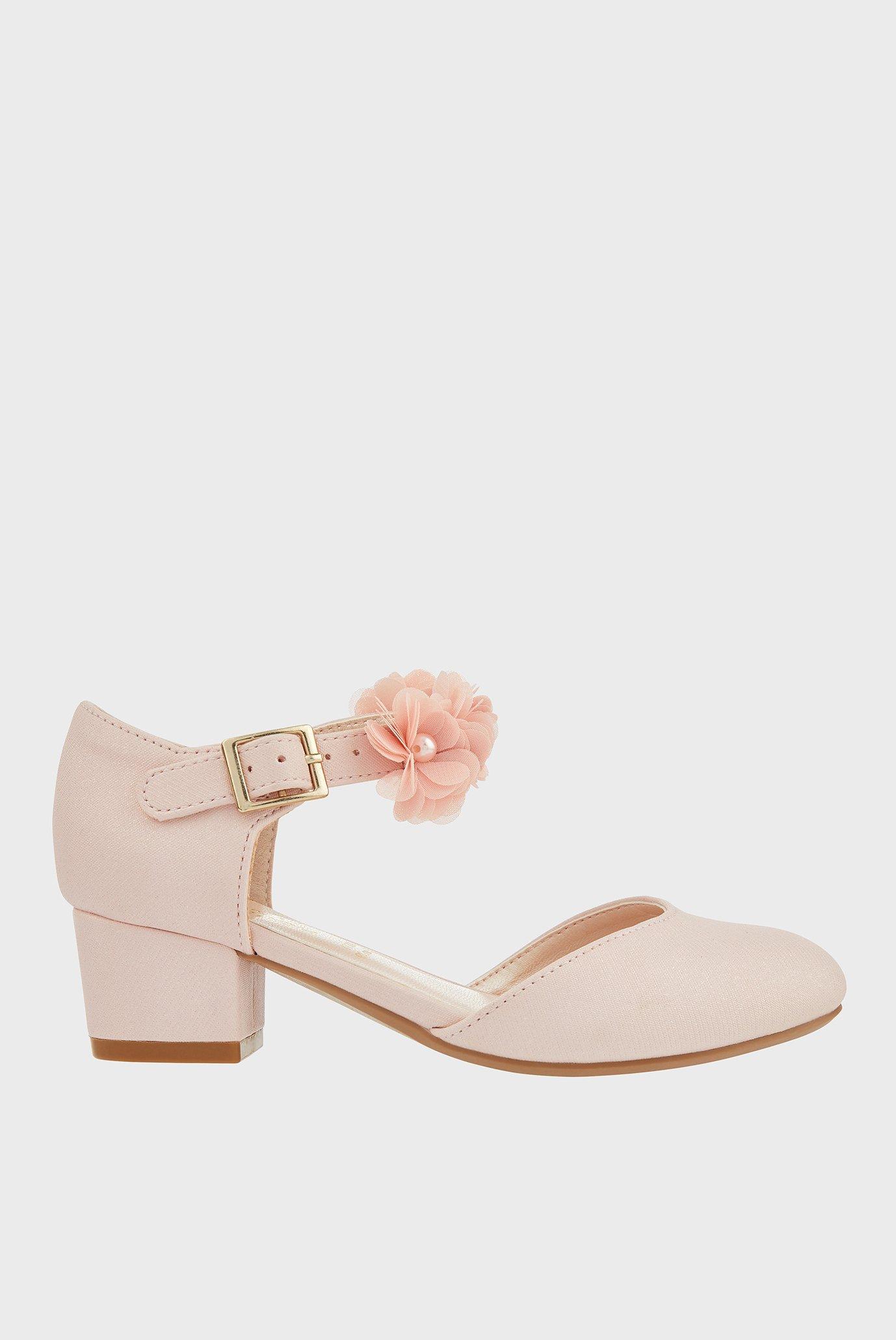 Детские розовые туфли MACAROON PINK SHOE 1