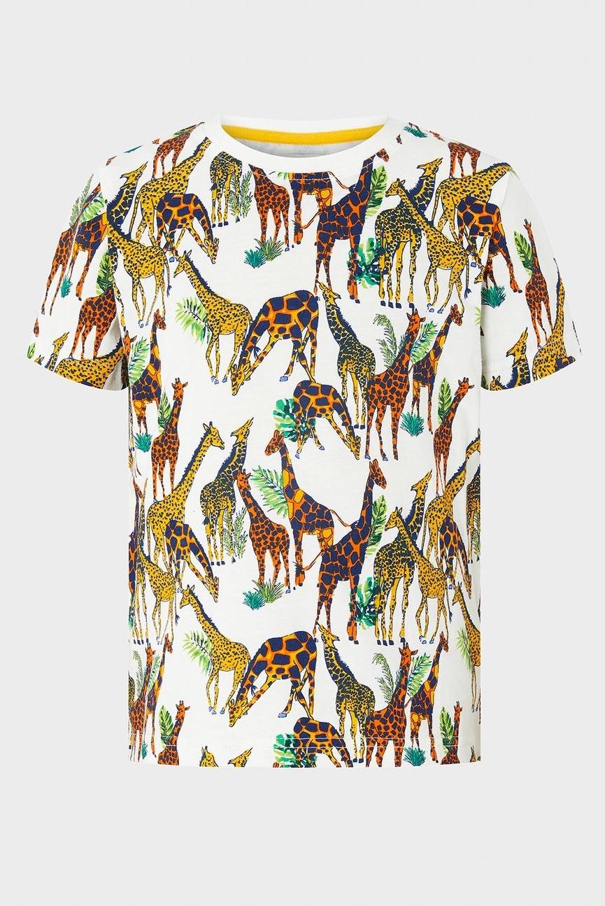 Детская белая футболка с принтом Lennon Giraffe Tee