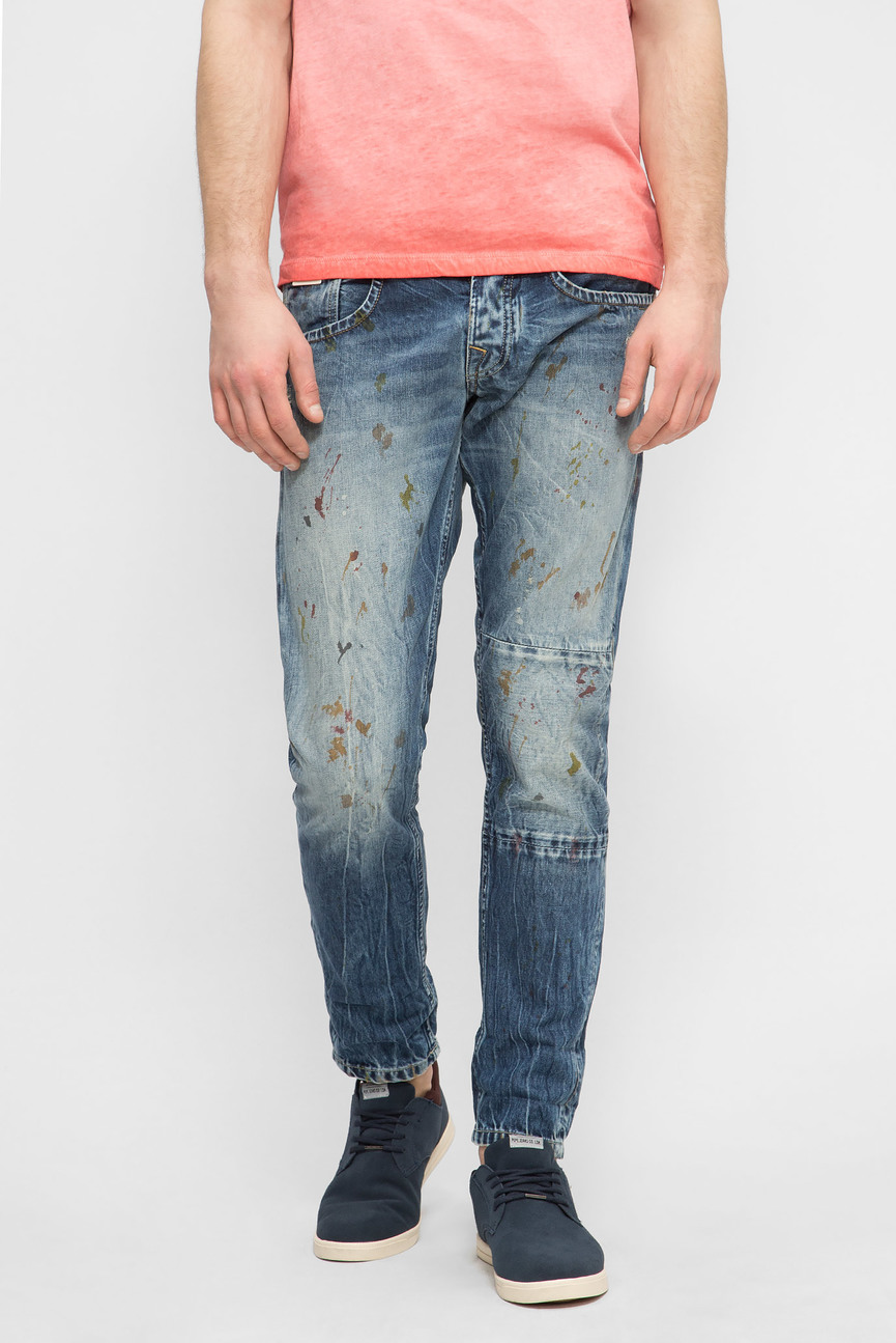Мужские синие джинсы KOLT PAINT