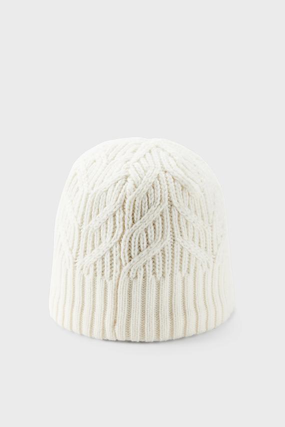 Женская бежевая шапка UA Around Town Beanie