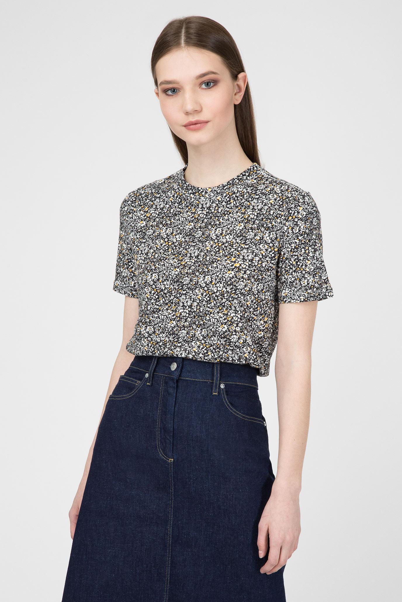 d1d1f72229361 Купить Женская футболка с принтом MINI FLORAL PRT T-SHIRT SS Calvin Klein  Calvin Klein K20K200533 ...