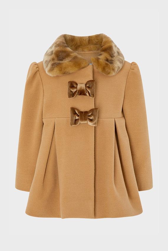 Детское коричневое пальто BABY CAMILE COAT