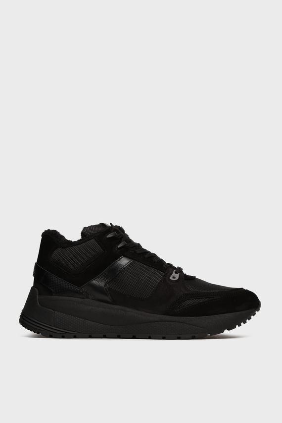 Мужские черные замшевые кроссовки Eusebio