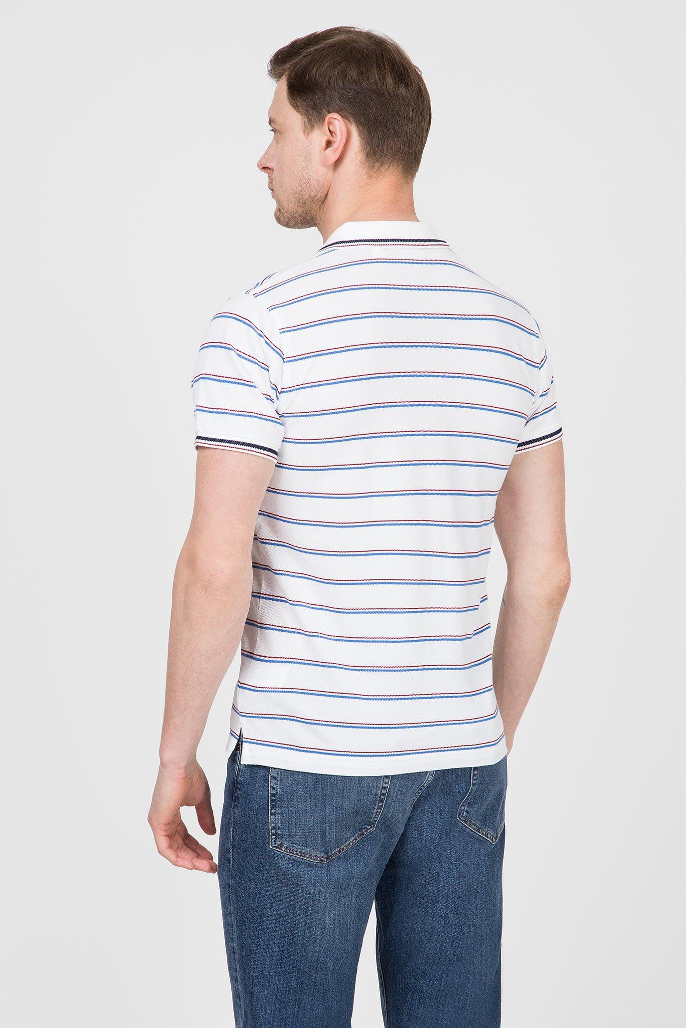 Купить Мужское белое поло в полоску LM. STRIPE  Gant Gant 2012035 – Киев, Украина. Цены в интернет магазине MD Fashion