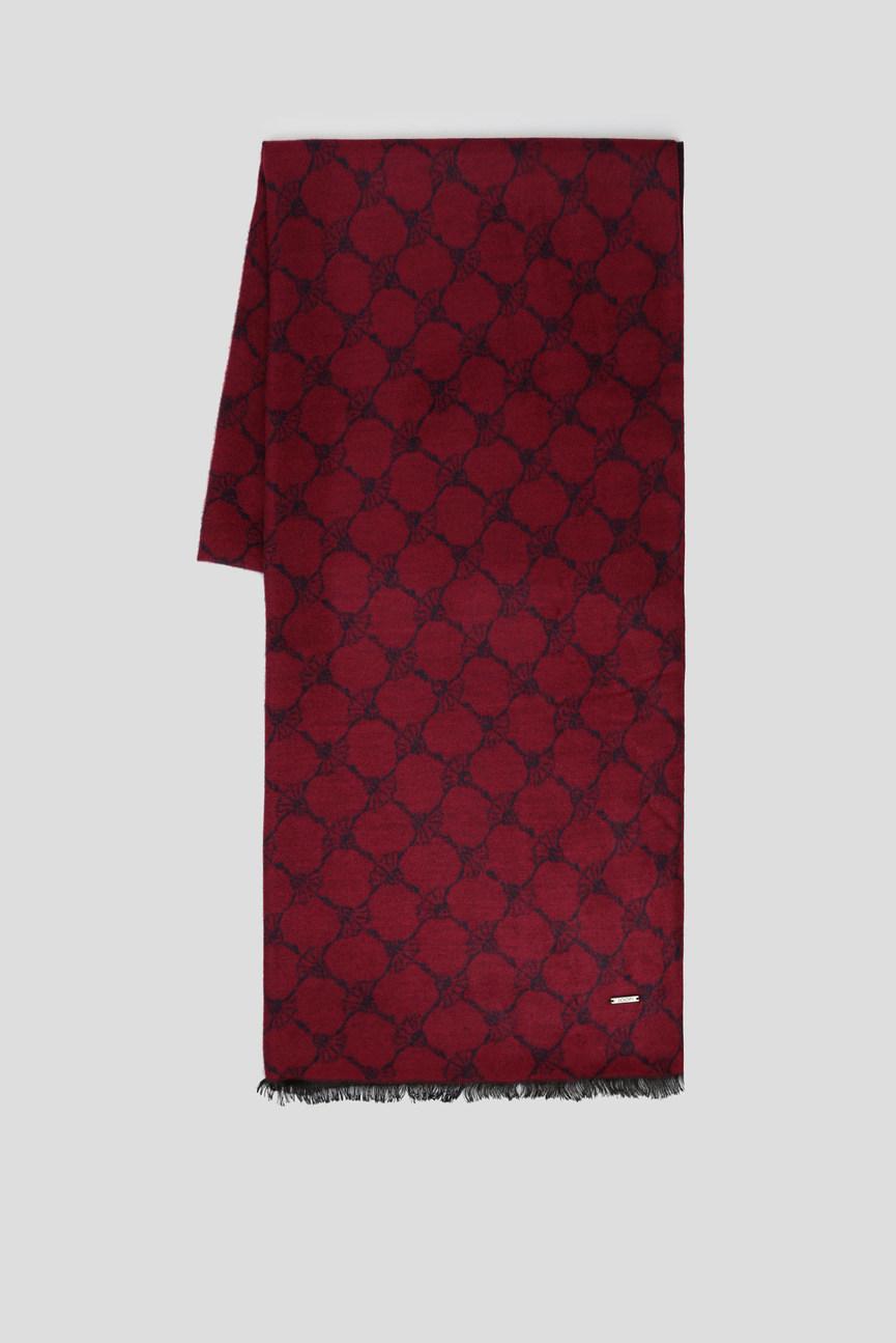 Мужской бордовый шарф