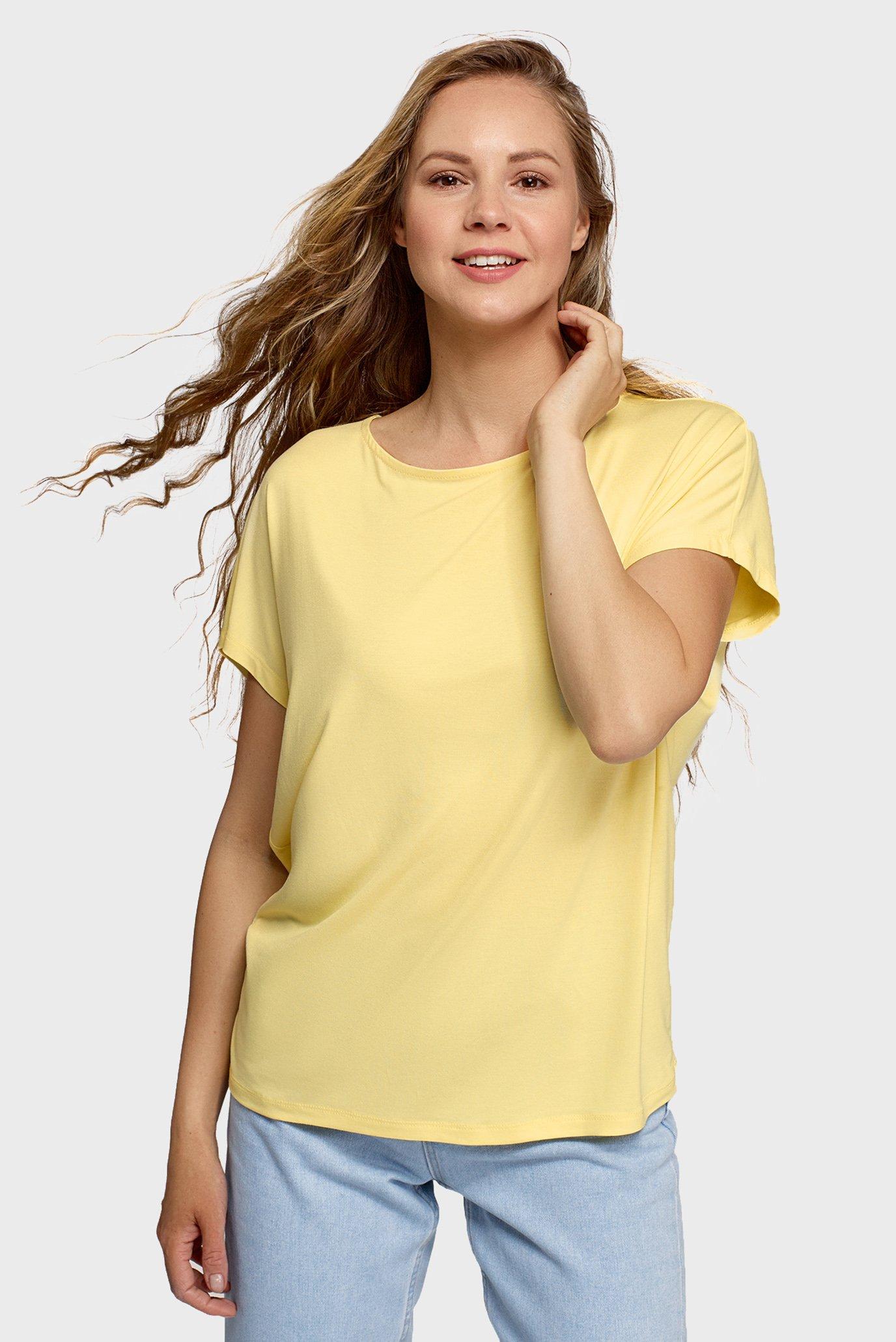 Женская желтая футболка 1