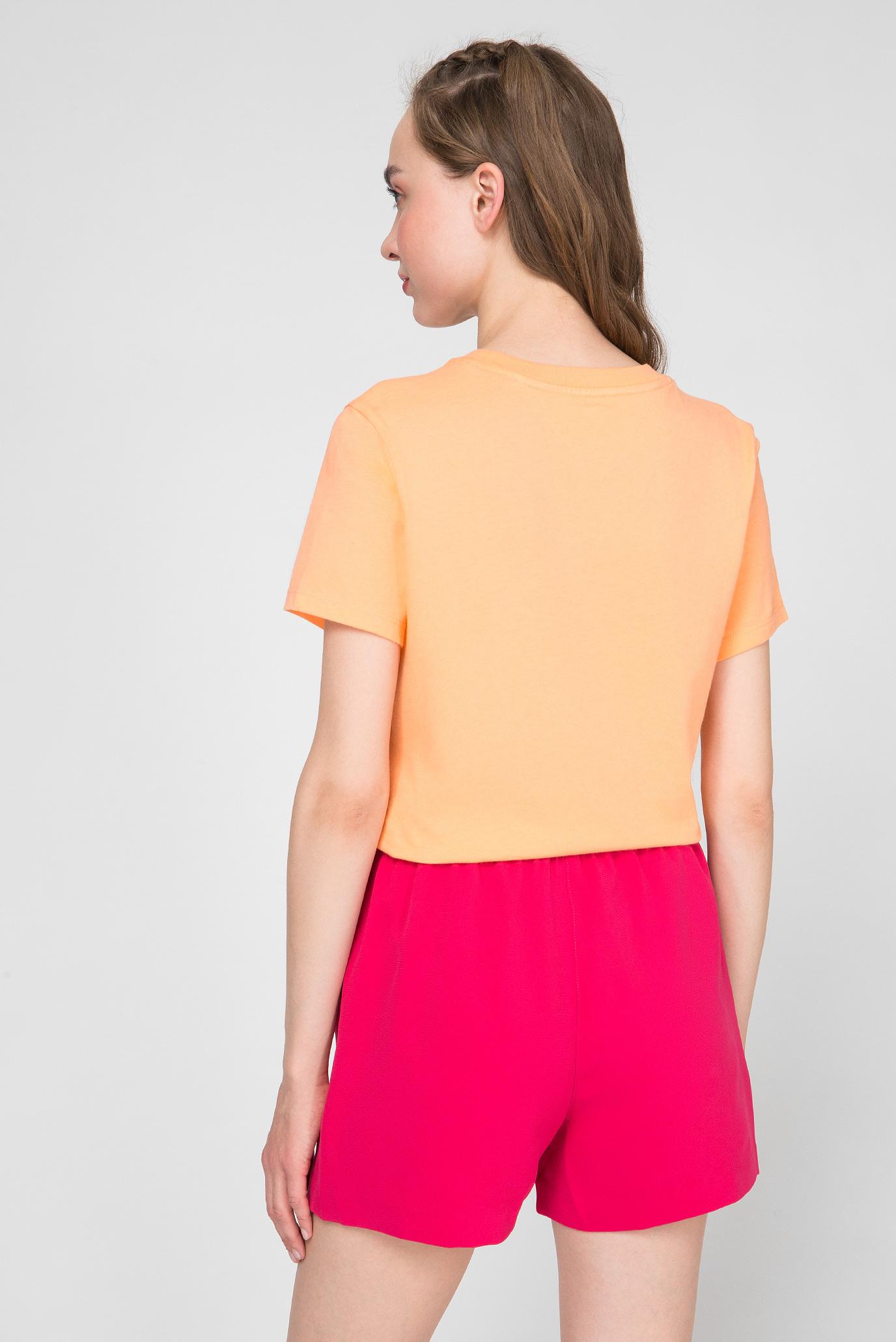 Женская оранжевая футболка TJW TOMMY CLASSICS Tommy Jeans