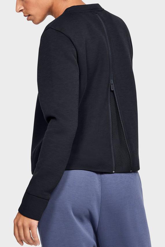 Женский черный свитшот UNSTOPPABLE MOVE LIGHT RADIAL BACK PLEAT