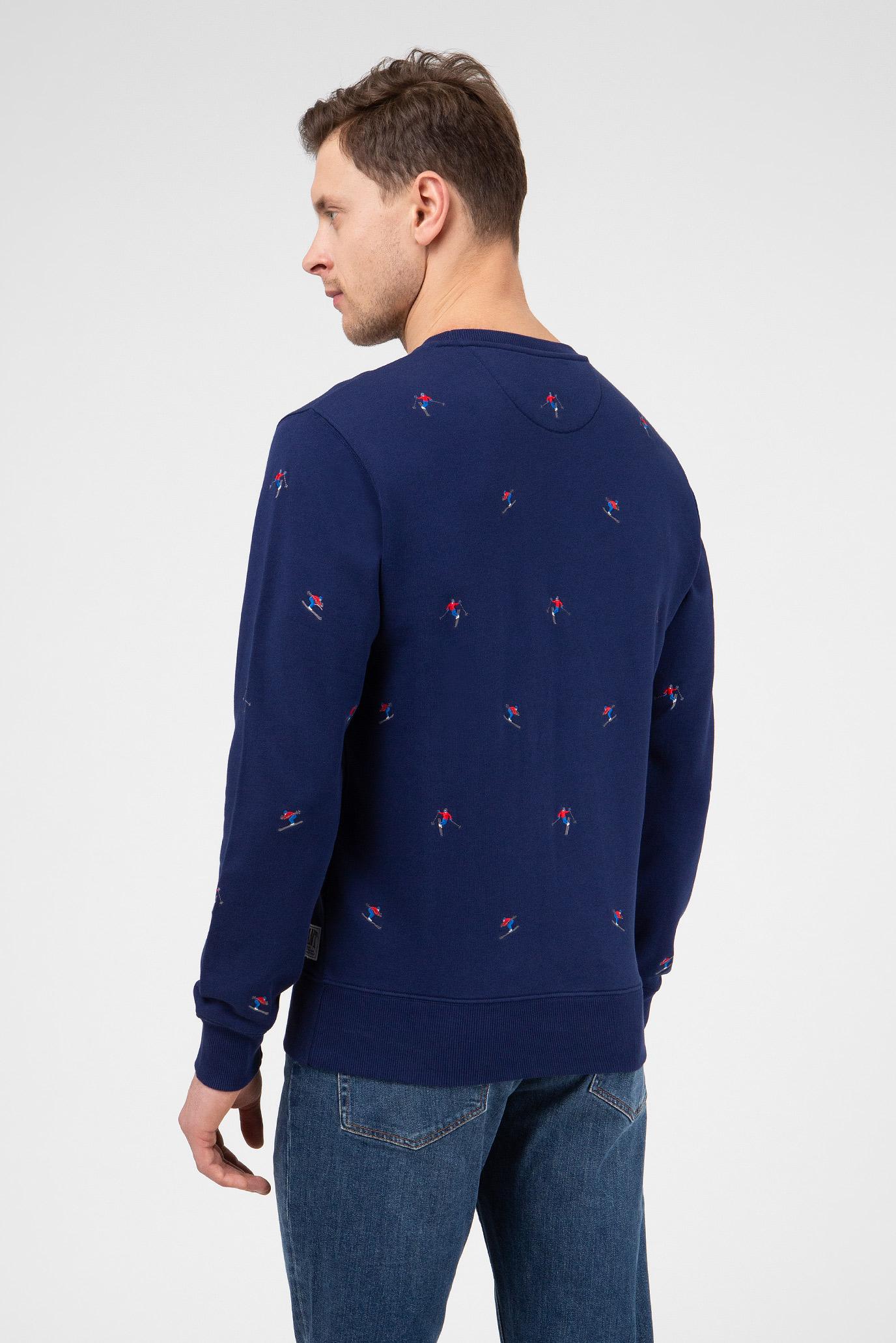 Купить Мужской темно-синий свитшот Gant Gant 2026017 – Киев, Украина. Цены в интернет магазине MD Fashion