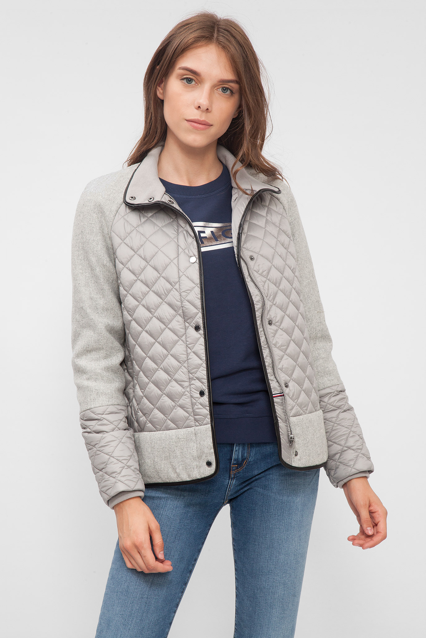 b7779fda34b Купить Женская серая стеганая куртка Tommy Hilfiger Tommy Hilfiger  WW0WW18867 – Киев