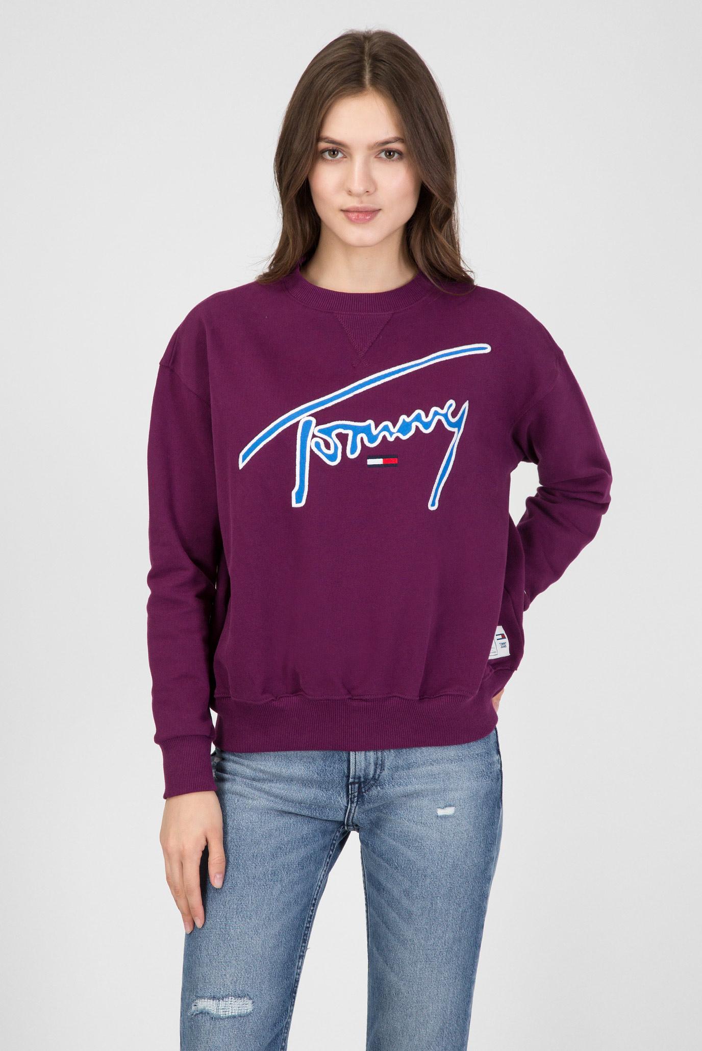 2d944c95737 Купить Женский фиолетовый свитшот Tommy Hilfiger Tommy Hilfiger DW0DW05801  – Киев