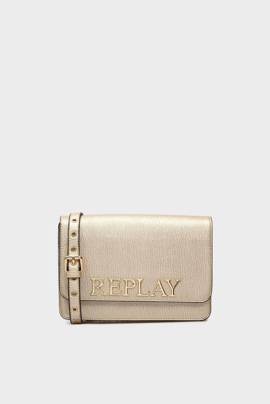 Женская золотистая сумка через плечо