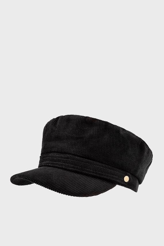 Женское черное кепи CORD MARINER