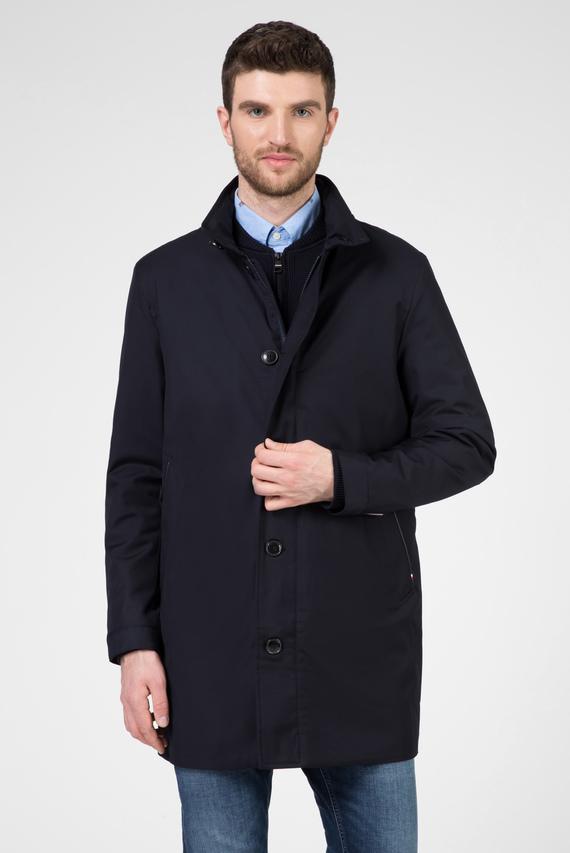 Мужская темно-синяя удлиненная куртка TECH STAND UP COLLAR