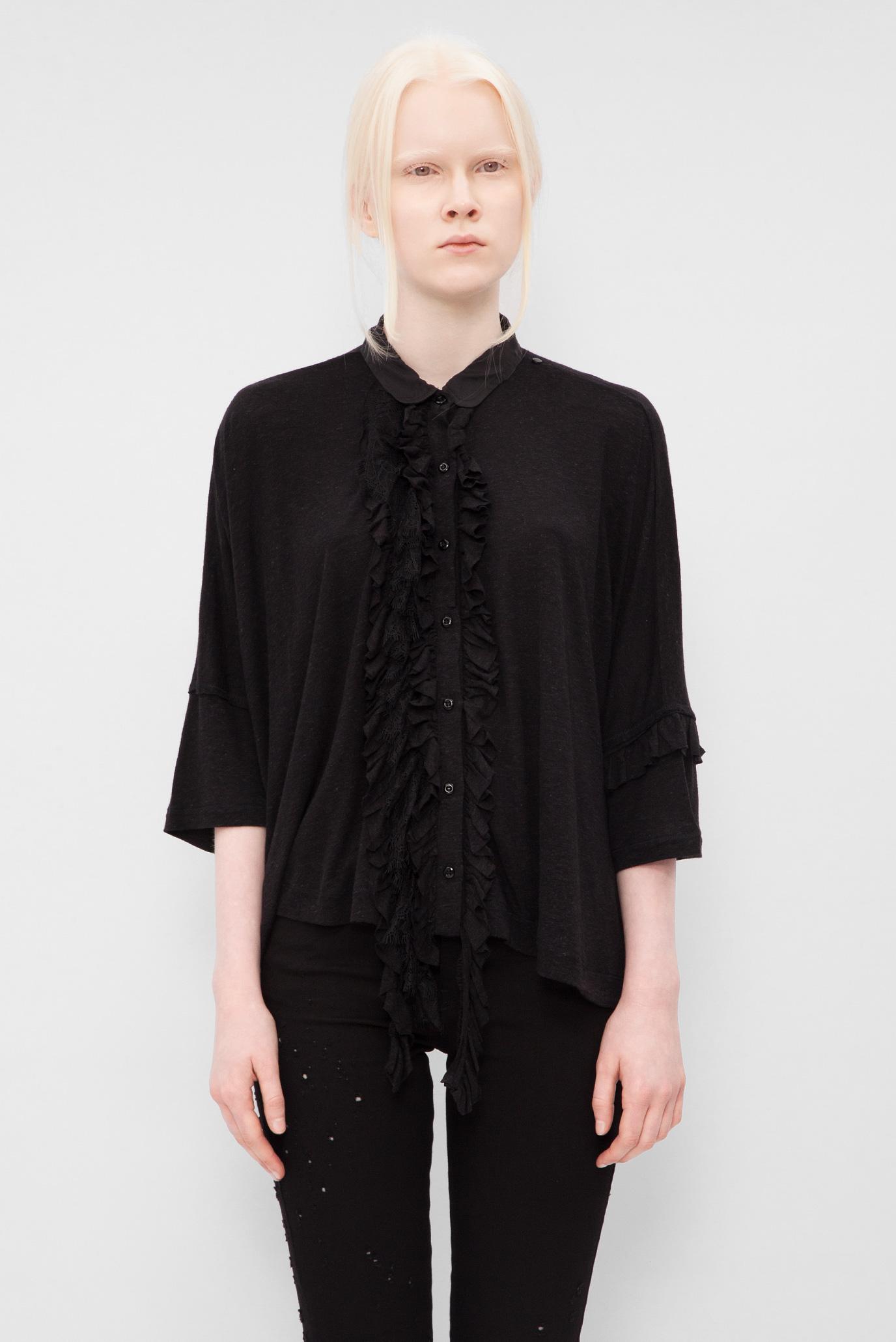Купить Женская черная блуза с рюшами Diesel Diesel 00SZI9 0EAPN – Киев, Украина. Цены в интернет магазине MD Fashion