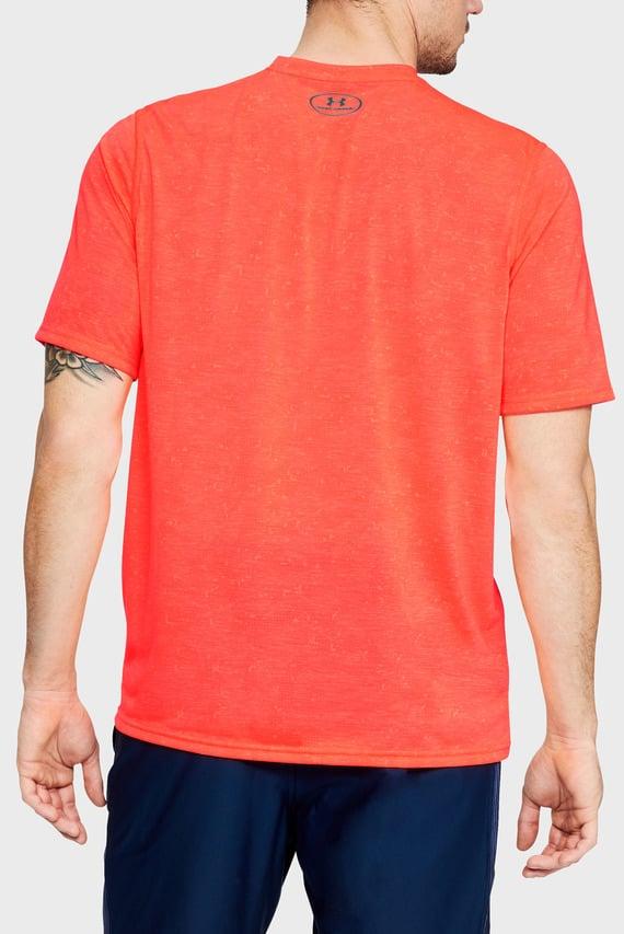 Мужская коралловая футболка UA THREADBORNE PRINTED VNECK