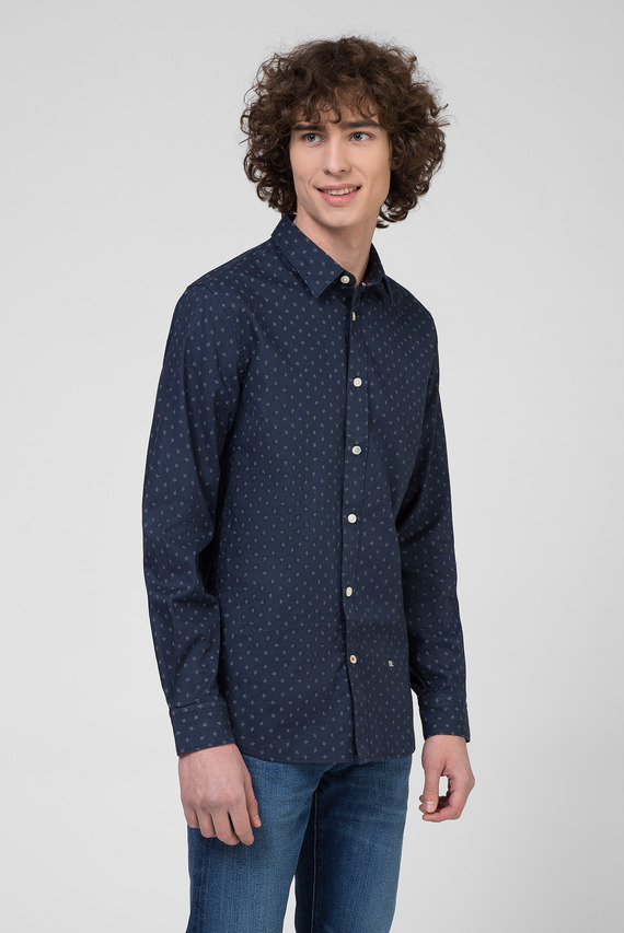 Мужская темно-синяя рубашка ADAN