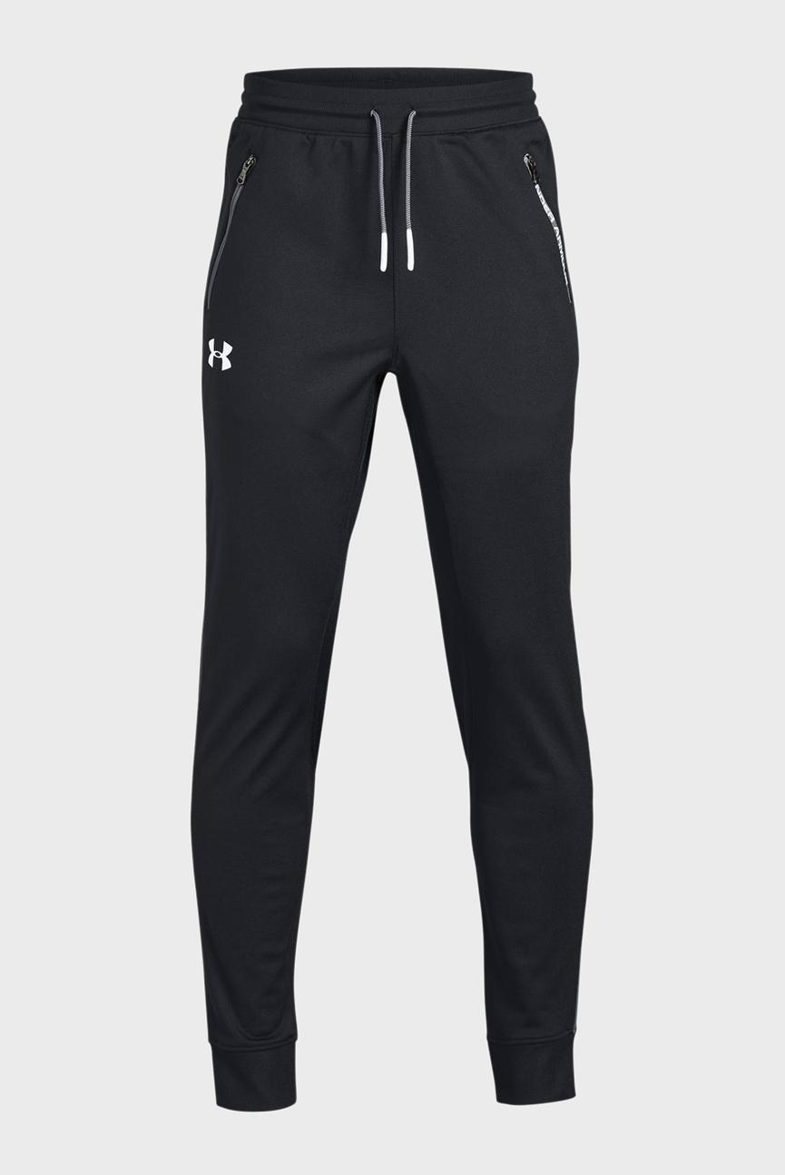 Детские черные спортивные брюки UA PENNANT TAPERED
