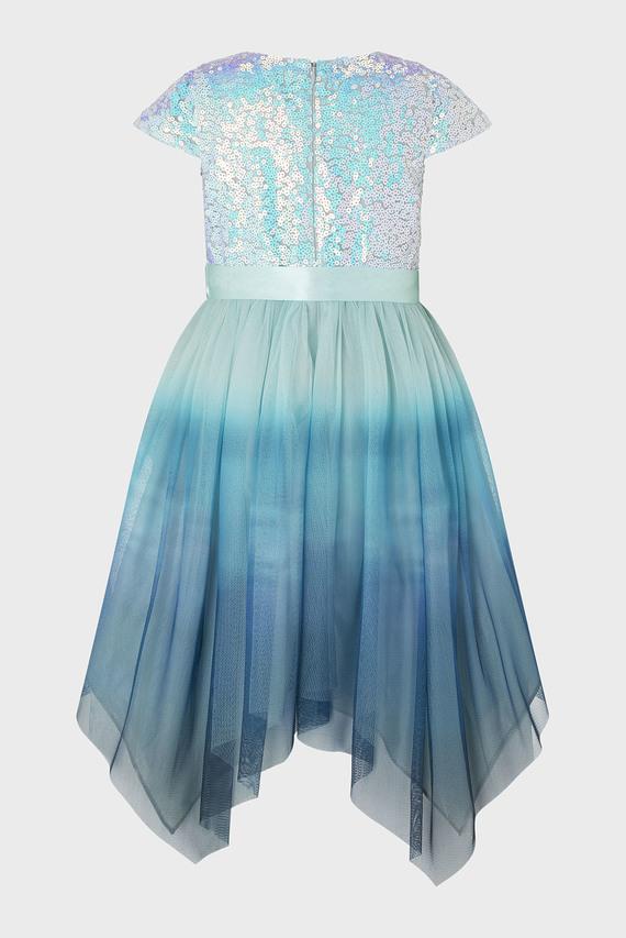 Детское голубое платье IVANA OMBRE SEQUIN