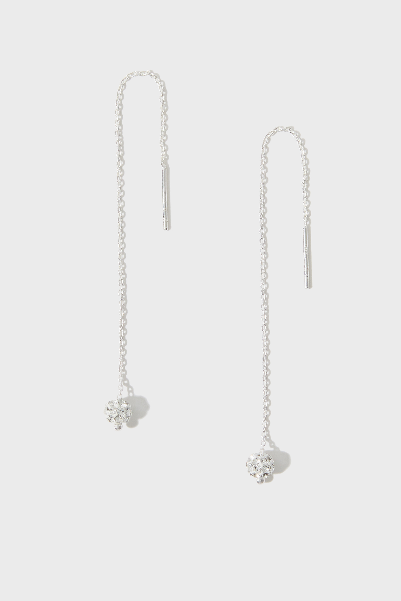 Жіночі срібні сережки ST PAVE BALL SLINKY 1