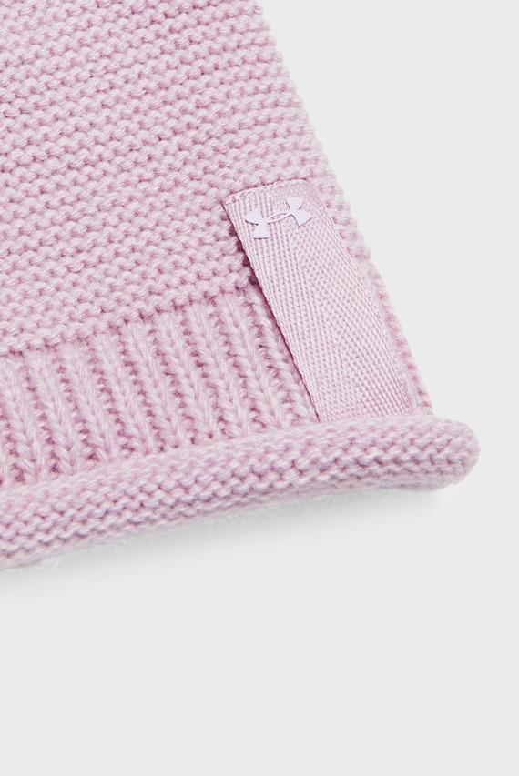 Женская розовая шапка Essentials Pom Beanie