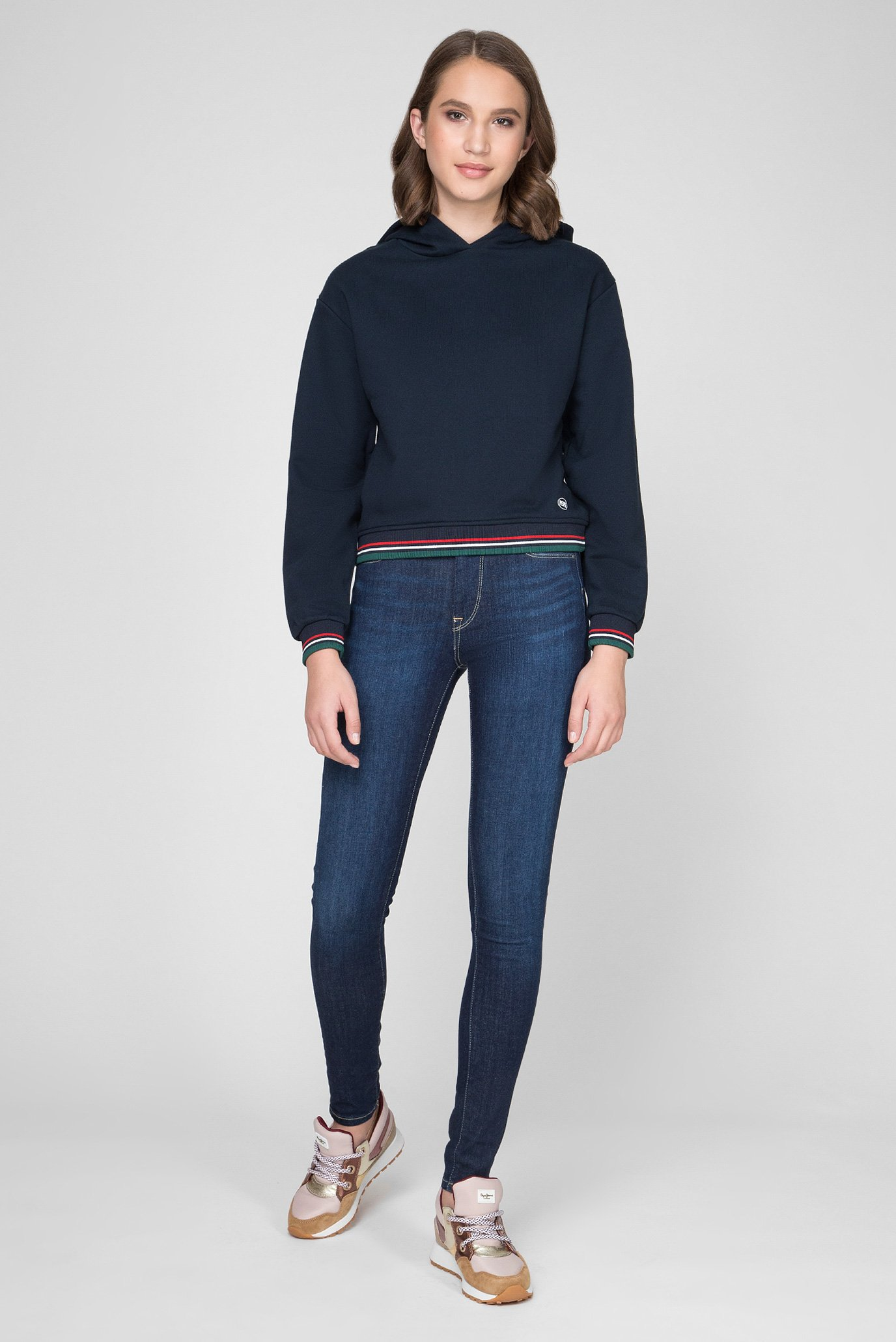 Женское темно-синее худи BRIGITTE Pepe Jeans