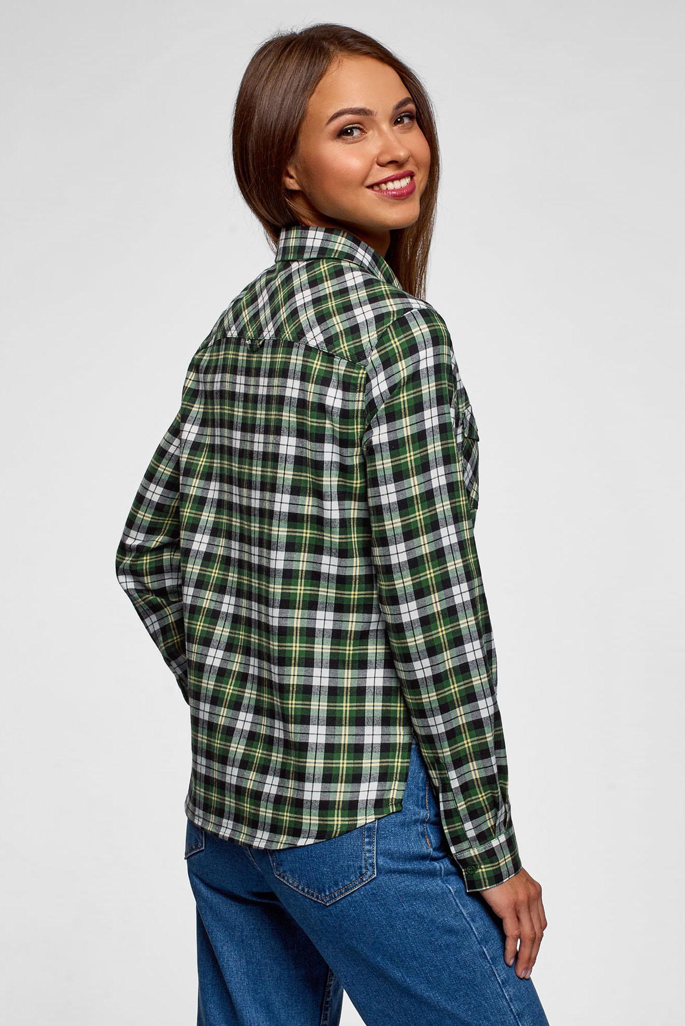 9c58e60ced3 Купить Женская зеленая рубашка в клетку Oodji Oodji 13L00001-2 48869 6230C  – Киев