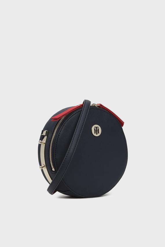 Женская темно-синяя сумка через плечо