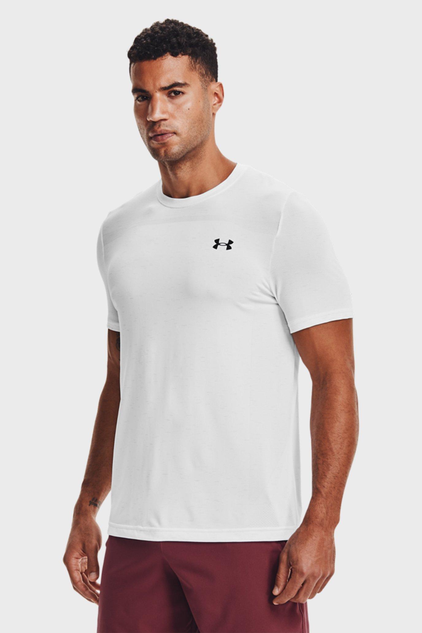Чоловіча біла футболка UA Seamless SS-WHT 1