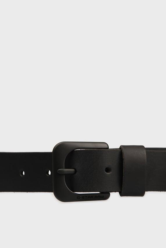 Мужской черный кожаный ремень (disabled for color code resolve)