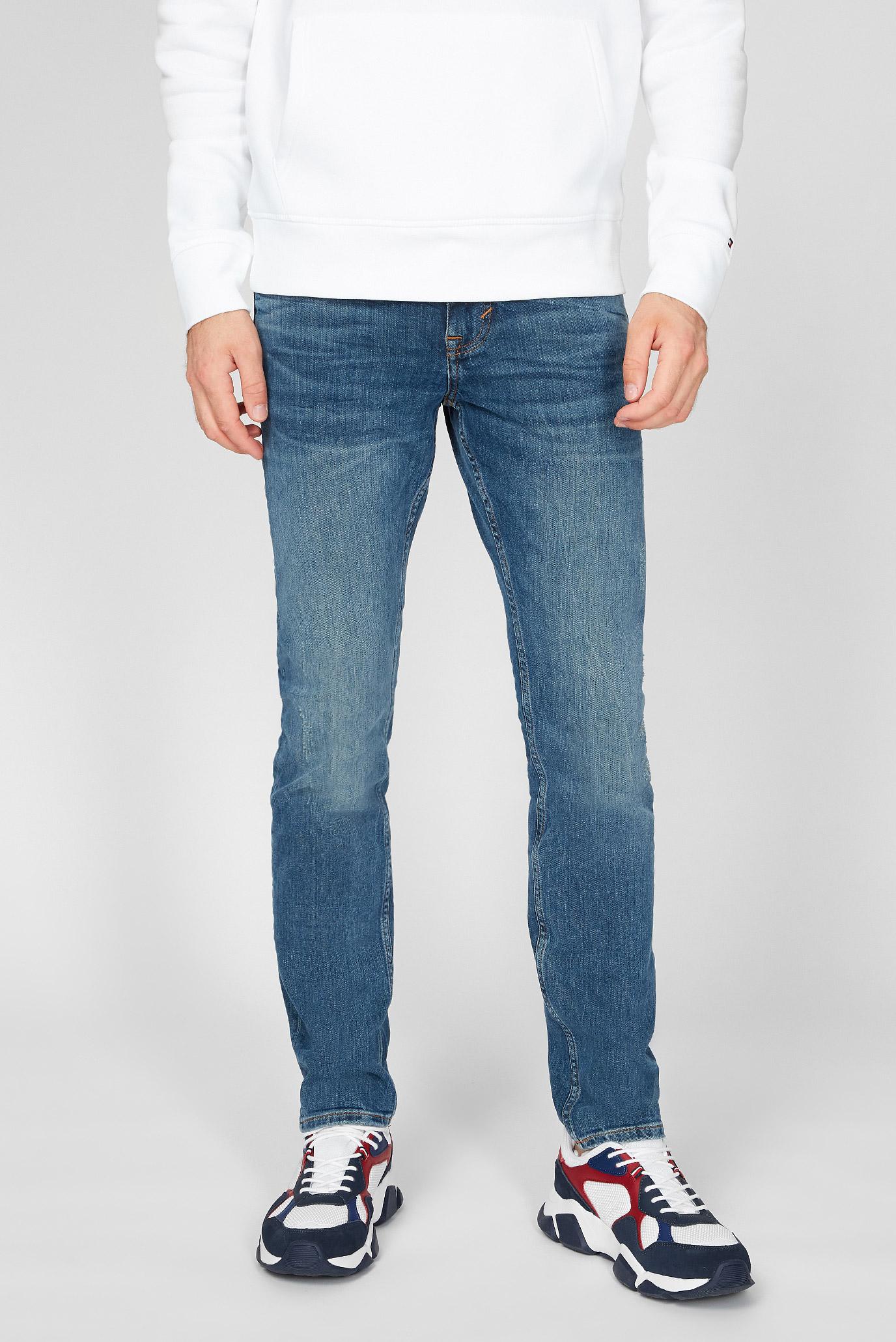 Мужские синие джинсы SLIM BLEECKER Tommy Hilfiger MW0MW14286 — MD-Fashion