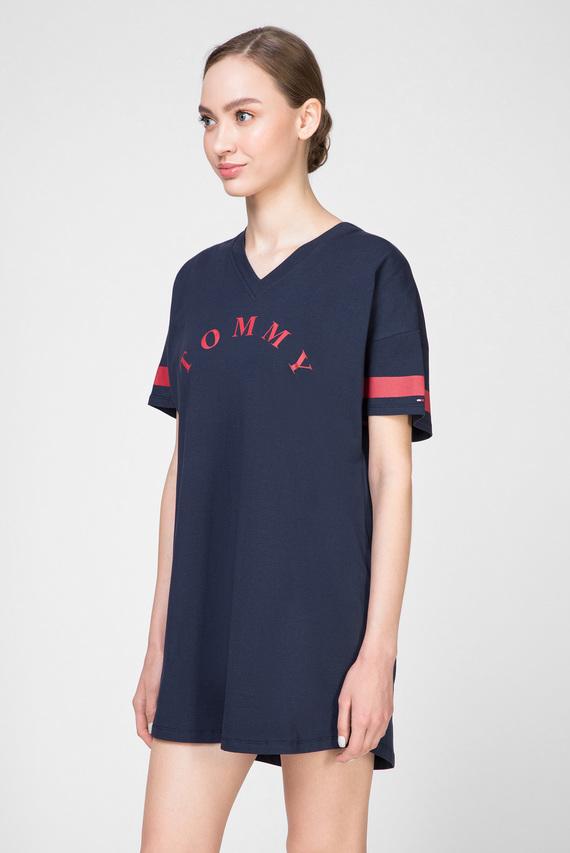 Женское темно-синее платье-футболка VN