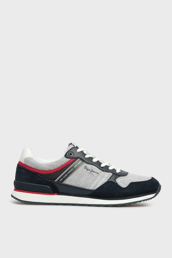 Мужские темно-синие кроссовки CROSS 4 CHAMBRAY