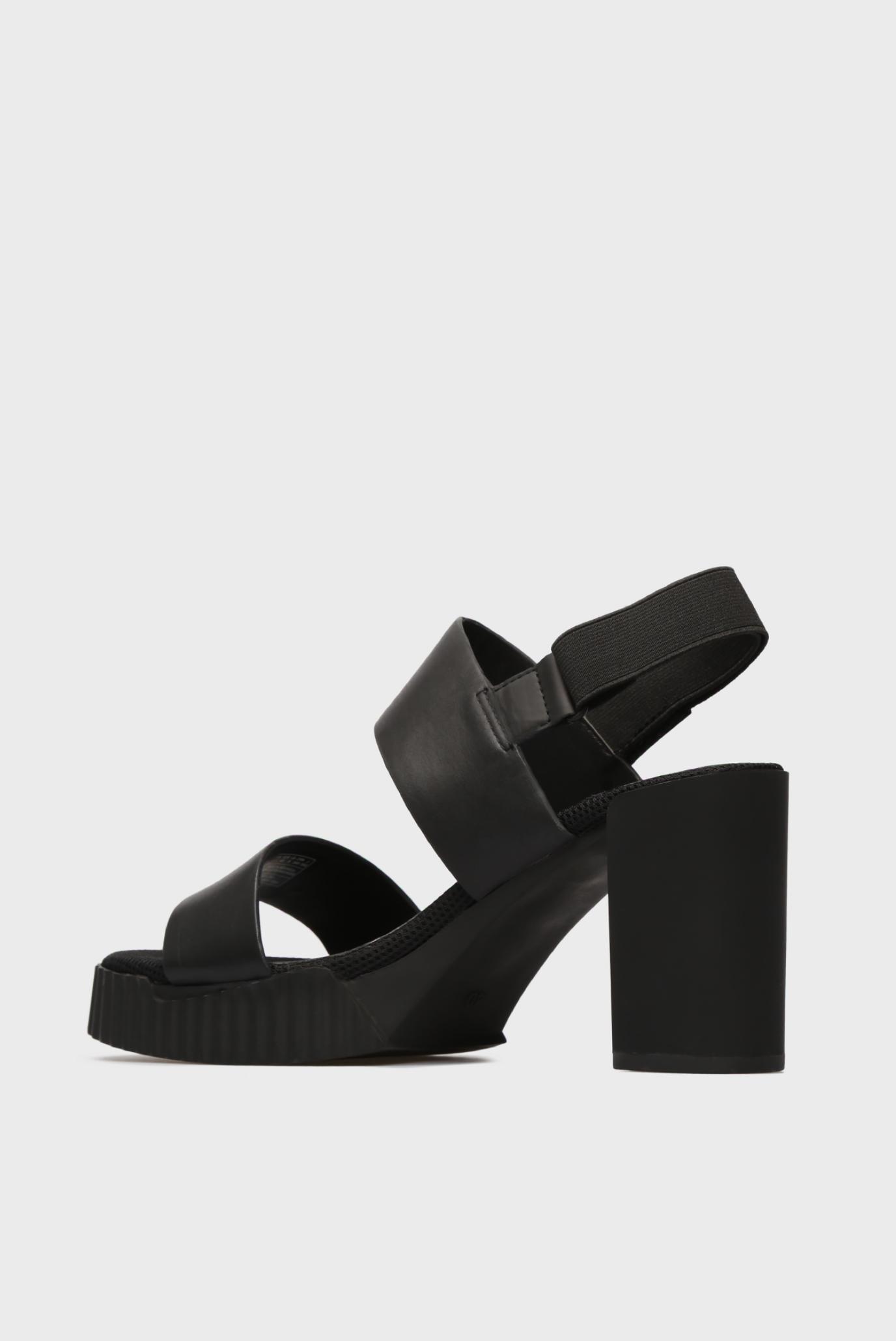 Женские черные кожаные босоножки G-Star RAW